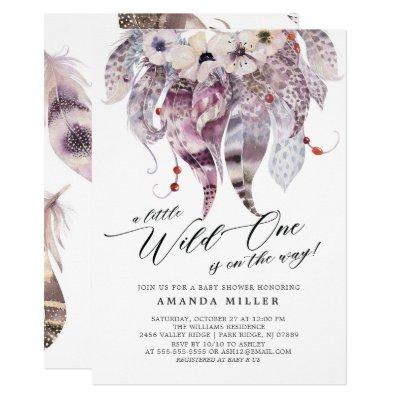 Little Wild One Baby Shower Invitation