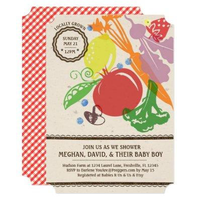 Locally Grown Baby Shower Invitations