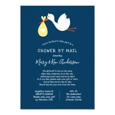 Long Distance Baby Shower by Mail Invitations