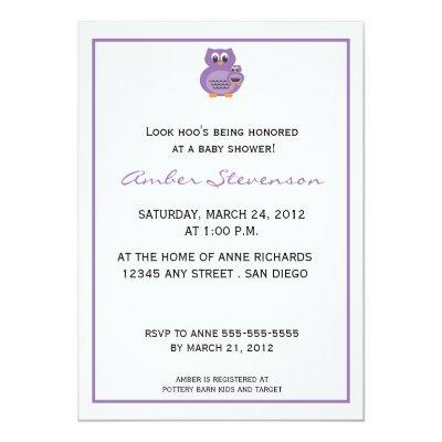 hoo princess owl purple owl baby shower invitation baby shower invitations baby