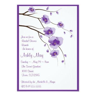 Lovely Orchid Invitations