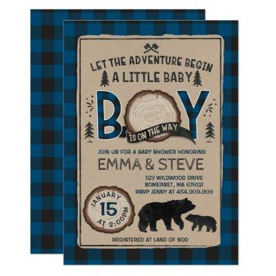 Lumberjack Baby Shower Invitation Lumberjack Party