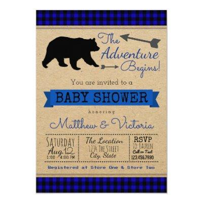 Lumberjack Blue Buffalo Plaid Boy Bear