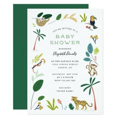 Lush Jungle Baby Shower Invitation