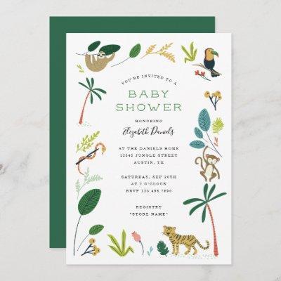Lush Jungle Baby Shower Invitation