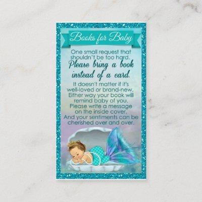 Mermaid Baby Book Request Inserts Baby Shower #130