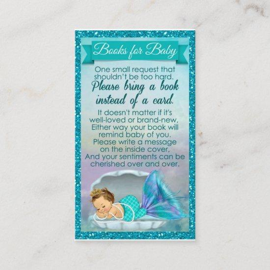 Mermaid Baby Book Request Inserts Shower 130
