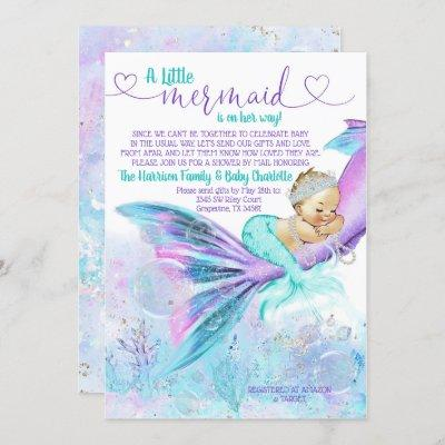 Mermaid Baby Shower by Mail Invitation