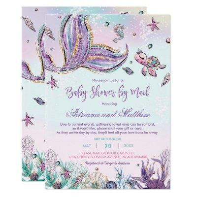 Mermaid Baby Shower by Mail Under the Sea Baby Invitation