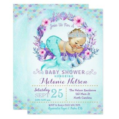 Mermaid Baby Shower Invitation Sprinkle
