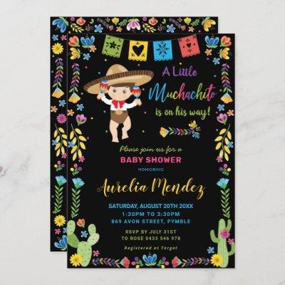 Mexican Baby Muchachito Fiesta Shower Invitation
