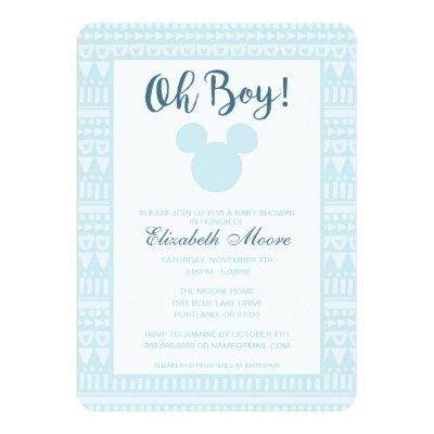 Mickey | Blue Aztec