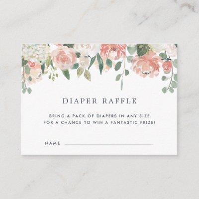 Midsummer Baby Shower Diaper Raffle Ticket Invitations
