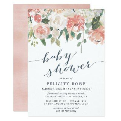 Midsummer Floral | Baby Shower Invitations