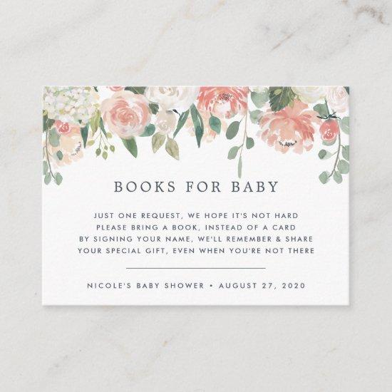 Midsummer Floral Book Request Baby Shower Card