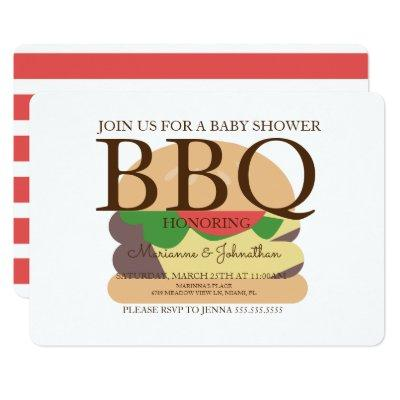 Grill Baby Shower Invitations