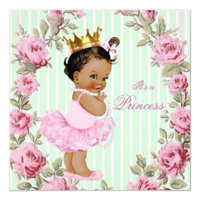 Mint Green Pink Rose Ethnic Ballerina
