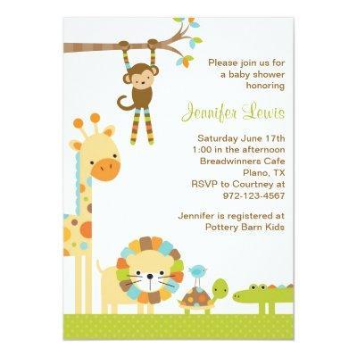 Mod baby shower invitation baby shower invitations baby shower mod jungle safari mod jungle safari mod circles baby girl shower invitations filmwisefo