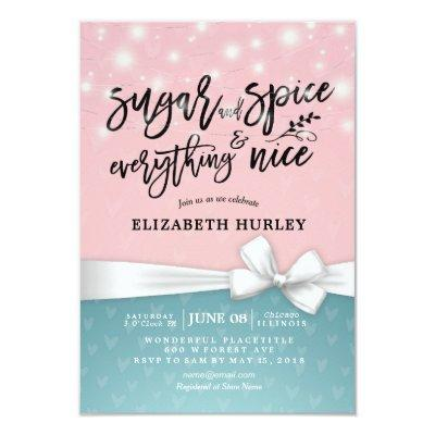 Modern Baby Shower Sugar & Spice & Everything Nice Invitation