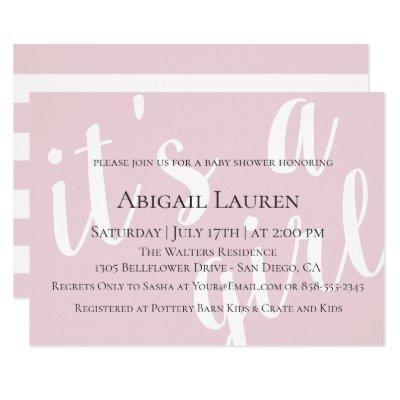 Modern Chic Typography Baby Shower Invitation