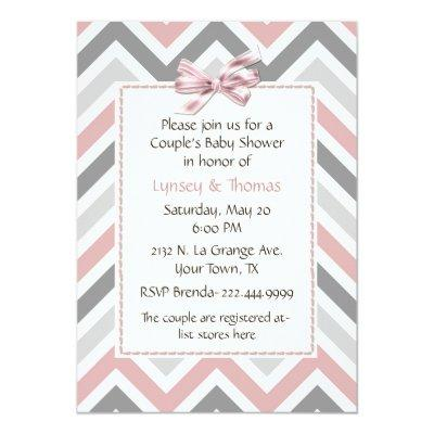 Modern Couple's Baby Shower Invitation