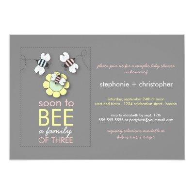 Modern Family to Bee Couples for Girl Invitations