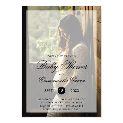 Modern Photo Gender Neutral Baby Shower Invitation