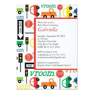 Modern Trucks Boy Invitations