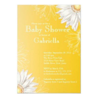 Modern Yellow & White Gerbera Daisy