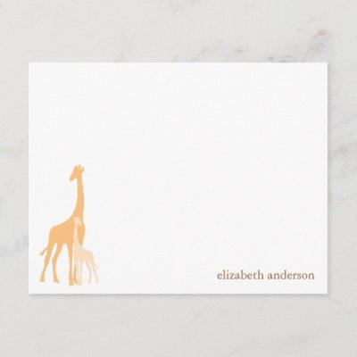 Mom and Baby Giraffe Thank You Invitations