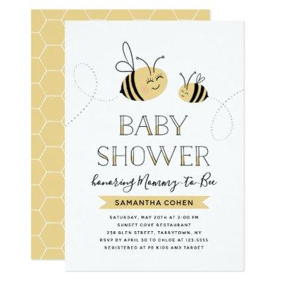 Mommy-to-Bee | Baby Shower | Yellow Invitation