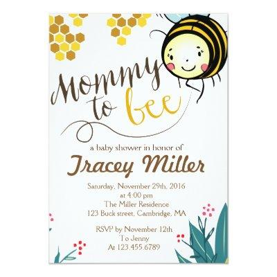 Bumble baby shower invitations baby shower invitations mommy to bee invitations bee baby shower filmwisefo Choice Image