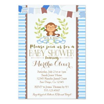 Monkey Boy Invitations