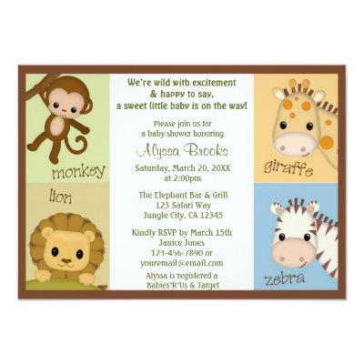 Monkey Jungle MONKEY Invitations MJS