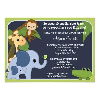 Monkey SAFARI SKY Invitations jungle SS