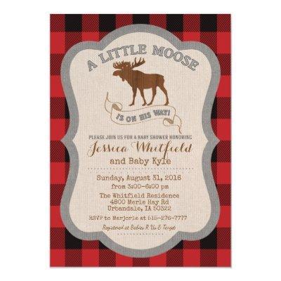 Moose Baby Shower Invitations