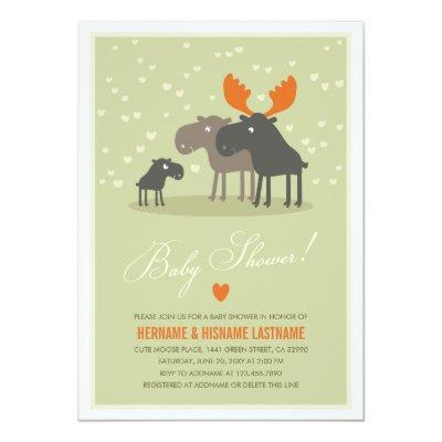 Moose Deer Family Couples Invitations