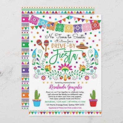 Nacho Average Fiesta Drive Through Baby Shower Invitation