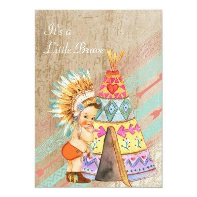 Native American Baby Shower Invitation