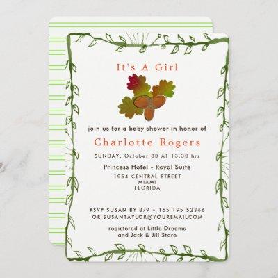 Nature From Little Acorns Baby Shower Invitation