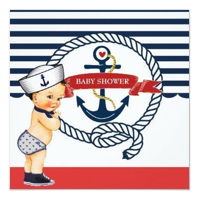 Ahoy Boy Baby Shower Invitation Baby Shower Invitations Baby