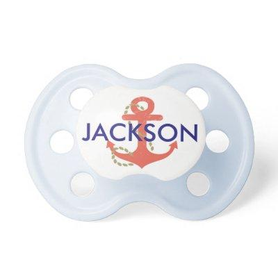 Nautical Baby Pacifier for Baby Shower Gift