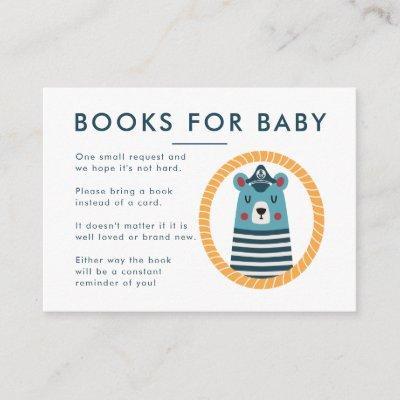 Nautical Baby Shower Book Request Enclosure Card