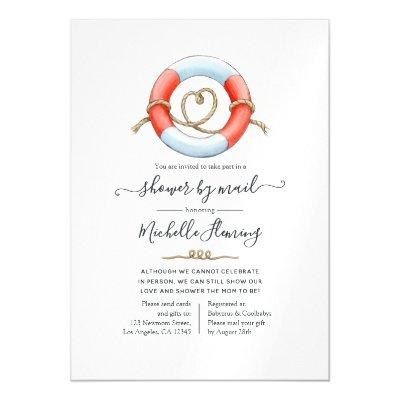 Nautical Baby Shower by Mail Magnetic Invitation