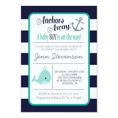 Nautical Baby Shower Invitations