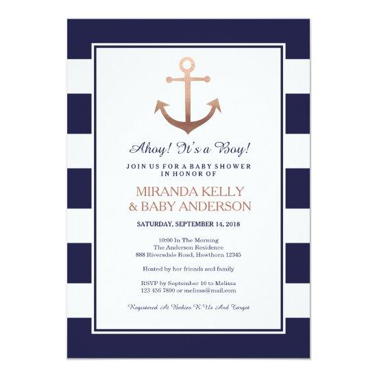 Nautical baby shower Invitations, nautical invite
