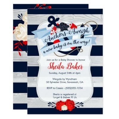 Nautical Baby Shower Invitation - Sailor Theme