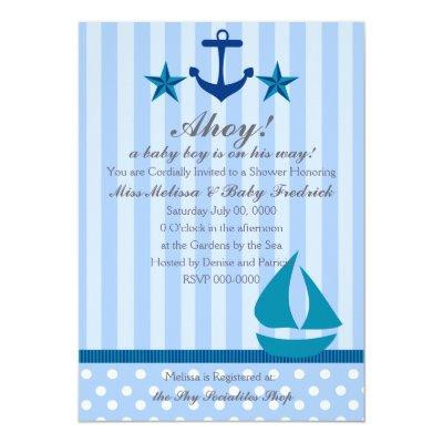 Nautical Boy Invitations