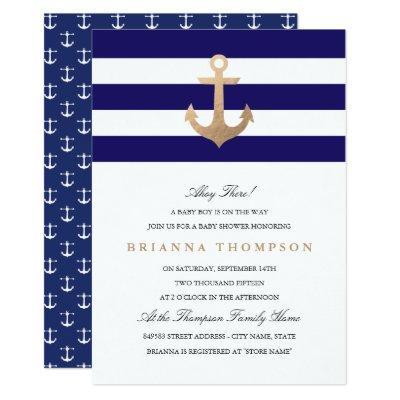 Nautical Navy Invitations