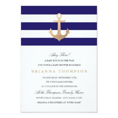 Nautical Navy Invitations